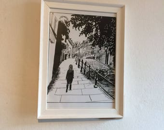 Limited Edition Fine Art giclee print - Steep Hill, Lincoln