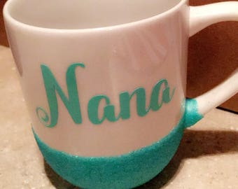 Personalized glitter mugs!
