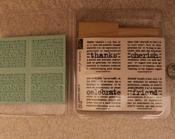 Lexicon of Love UNCUT Stampin' Up 2005 (Set of 4)