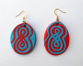 Handmade Modelling Clay Designed Earrings