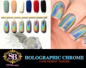 2g - Holographic Chrome Powder- Easy To Use- DIY Nail Art- Professional Products