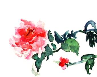 Sumi-e Rose