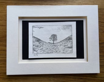 The Gap- dry point etching.