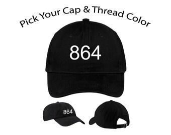 Area Code Dad Cap, Area Code Dad Hat, Dad Cap, Dad Hat, Cap, Hat, Cap Daddy