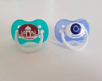 Custom writing color pacifier