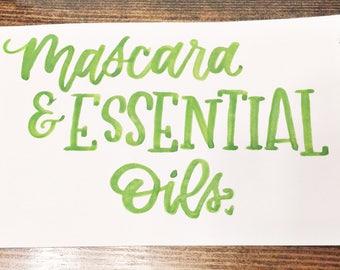 Mascara & Essential oils print