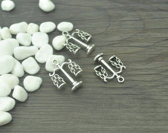 Balance scales charms, 20 pcs, Tibetan silver charms, Alloy charms, Metal charms, Jewelry findings, Jewelry making, 22 mm x 17 mm, A182