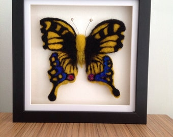 Needle felted butterfly