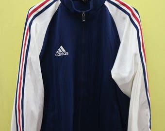 Vintage Adidas Minimalist Logo Sweater Fully Zipper Sport Wear Size L