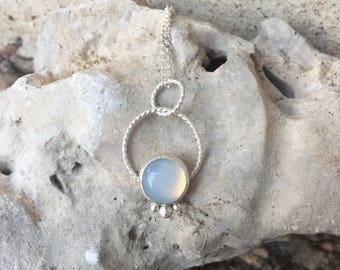Opalite silver pendant / Silver / Argentium silver / Gifts for her / Pretty necklace / silver pendant / opalite gemstone/ one of a kind