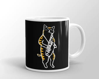 Saxocat - Cat Playing Saxophone Mug
