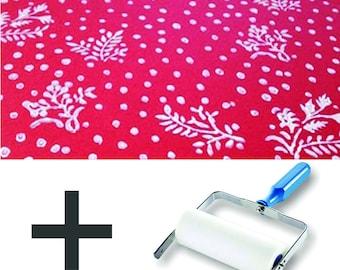Pattern Paint Roller Kit DIY Wallpaper - Floral Motifs