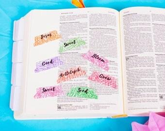 Bible tabs journaling fruits of the spirit