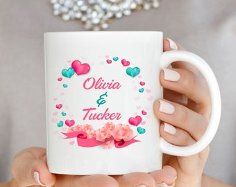 Rose Wreath With Names Mug