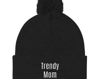 Trendy mom Pom Pom Knit Cap