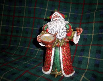 Hand Painted Ceramic Santa #2