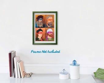"""Renaissance Ninja Artists 8""""x10"""" Art Print"""