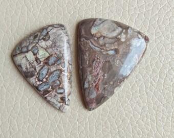 2 Piece Beautiful Mushroom Rhyolite Stone Size 41x32x8, 37x26x7 MM Approx, Fancy Shape Stone, Top Quality Gemstone Weight 87 Carat