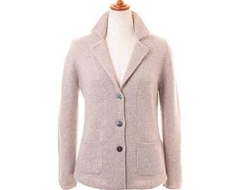 Women Cashmere Tailored Jacket - 100% Premium Cashmere - New Style