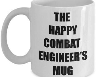 Happy Combat Engineer Mug - Coffee Cup Gift Present for Combat Engineers