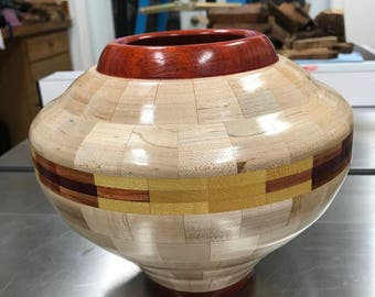 Segmented Wooden Vessel