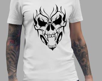 Vampire Skull Tattoo Shirt #R