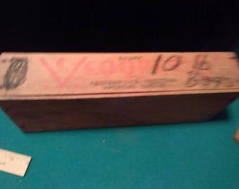 CV Cooper wood cheese box