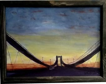 The Delaware Memorial Bridge with frame