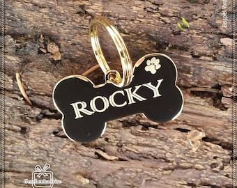 Dog Stamp with engraving