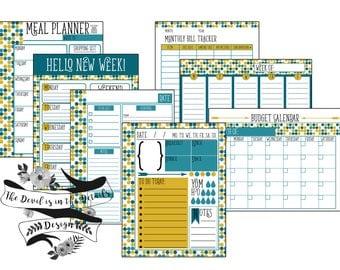 Organization Printable To-Do List Calendar Digital Design