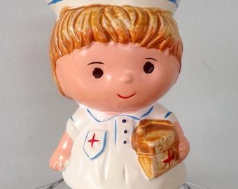 Vintage Nurse Piggybank