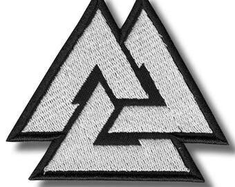 Valknut - embroidered patch, 8 X 7 cm