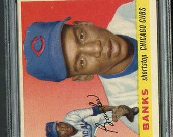 1955 Topps #28 Ernie Banks PSA 5 - Centered- 2nd Year!
