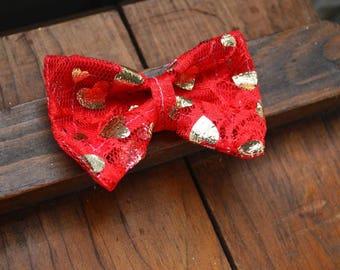 Heart Of Gold Kitten Bow Tie