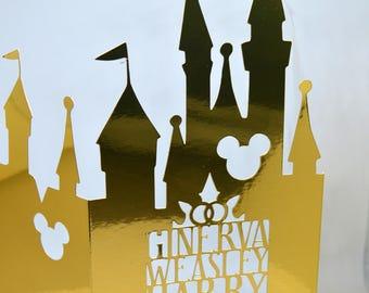 Disney Castle Wedding invitation SAMPLE