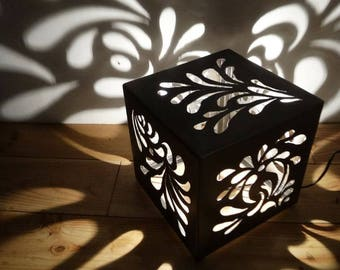 metal cube projection lamp