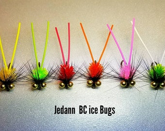 12 BCG Fly Fishing Ice Bugs Bluegill Perch Crappie