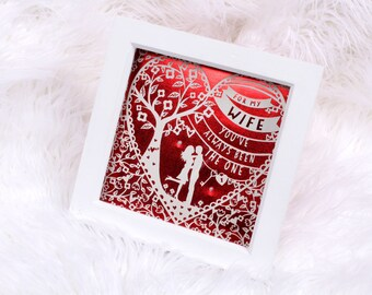 Valentines day gift - Treasured memories keepsake box - For my wife... valentine's card/ gift for wife