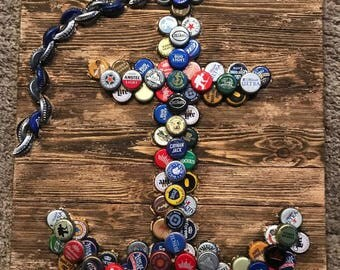 Bottle Cap Anchor Wood Design