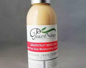 GRAPEFRUIT BERGAMOT Moisturizing Green Tea & Aloe Body Lotion