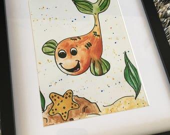 Happy Fish - Print