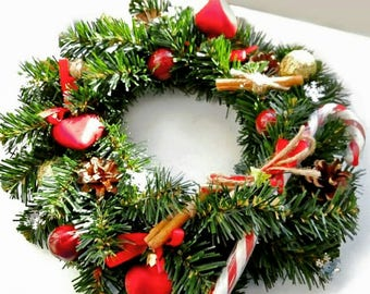 Christmas wreath, red