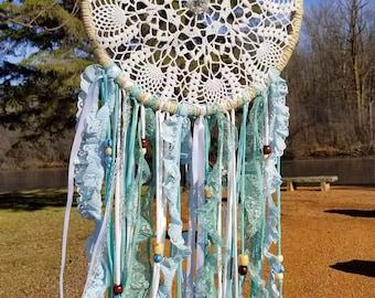 Winter Snowflake Bohemian Dreamcatcher