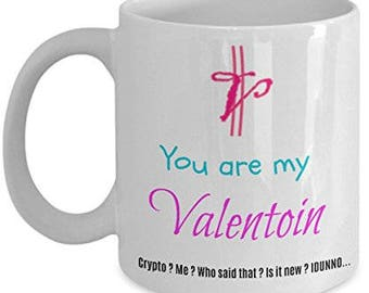 Coffee Mug Funny Valentine Gift Bitcoin Cryptocurrency for Men Women Young