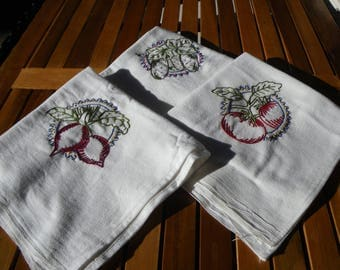 Embroidered Dish Towels (set of 3)