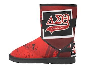 Delta Sigma Theta Custom High Top Snow Boots