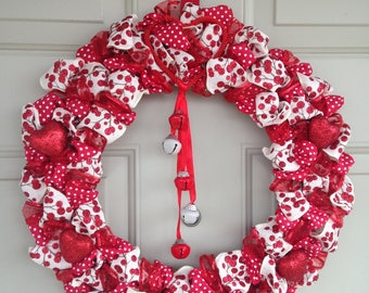 Red & White Valentine's Wreath
