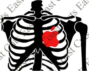 Rib Cage Laptop Decal SVG/PNG/DXF