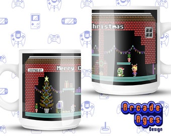 A Commodore Christmas / Noel / Mug / Cup / Commodore 64 / C64 / Video Games / Geek