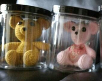 Teddy bear in a jar